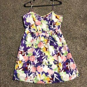JCrew printed dress with pockets